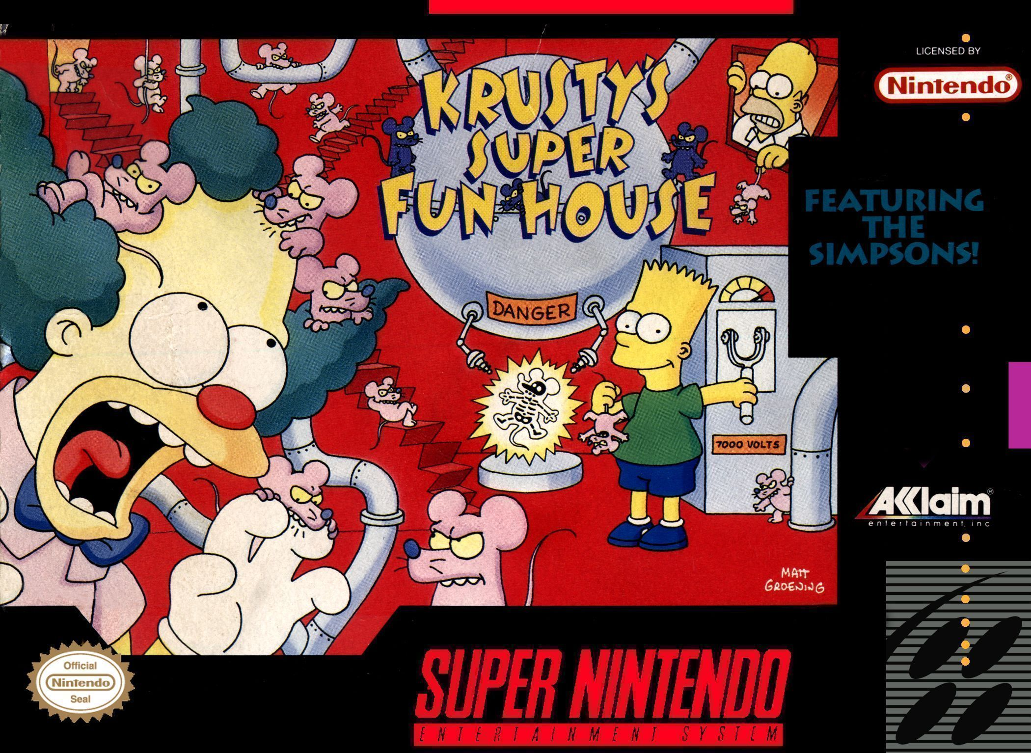 Rom juego Simpsons, The - Krusty's Super Fun House