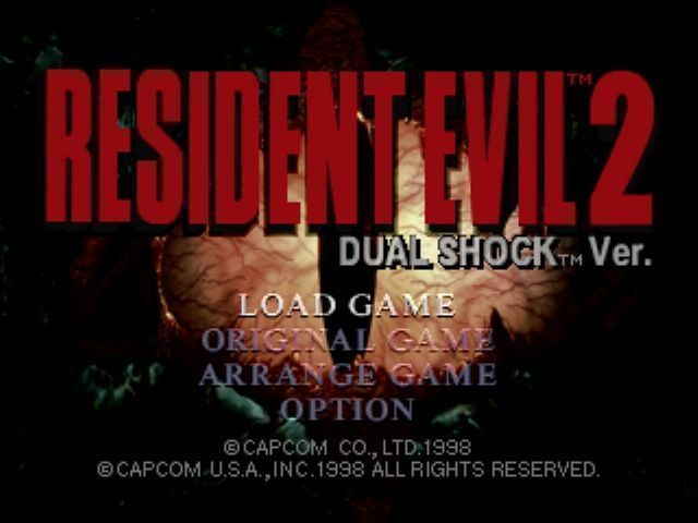 Rom juego Resident Evil 2 Dual Shock CD1