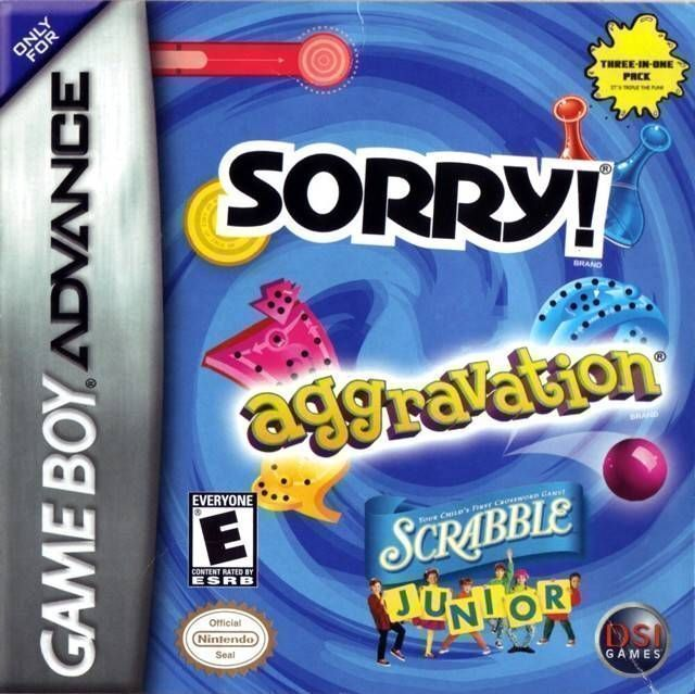 Rom juego 3 en 1 - Sorry Aggravation Scrabble Junior
