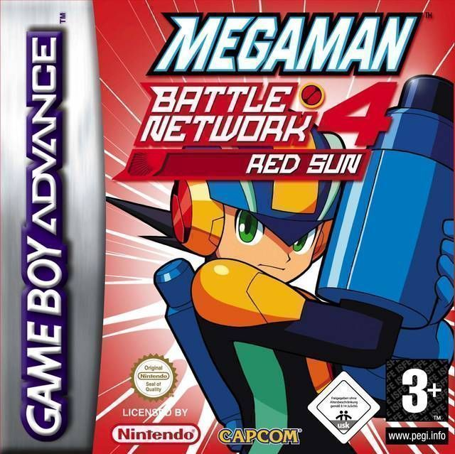 Rom juego MegaMan Battle Network 4 Red Sun