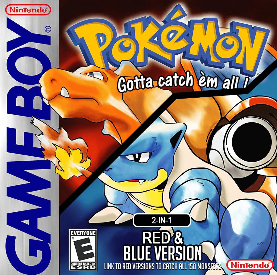 Rom juego Pokemon Red-Blue 2 en 1