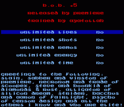 Rom juego Premiere - Dull Text Trainer