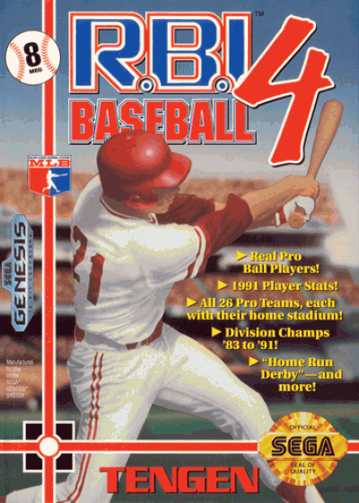 Rom juego RBI Baseball 4 (UJE) (Aug 1991) [b1]
