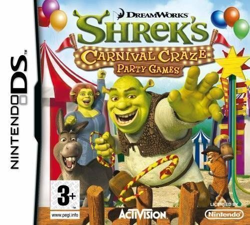 Rom juego Shrek's Carnival Craze - Party Games